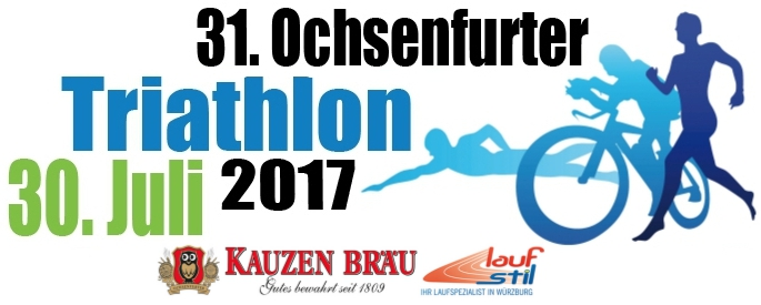 Triathlon Logo mit Sponsoren