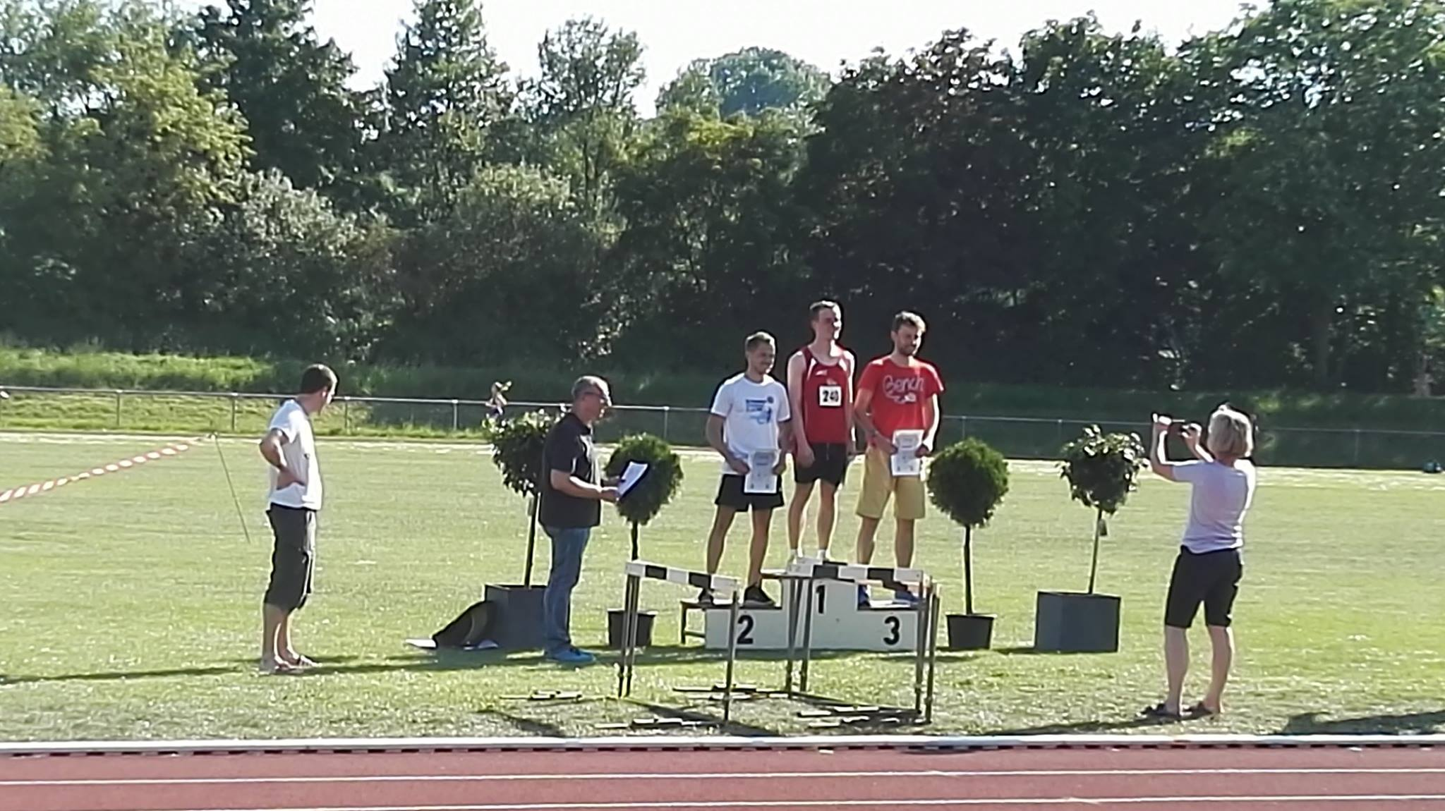 Siegerehrung Männer 1.500m