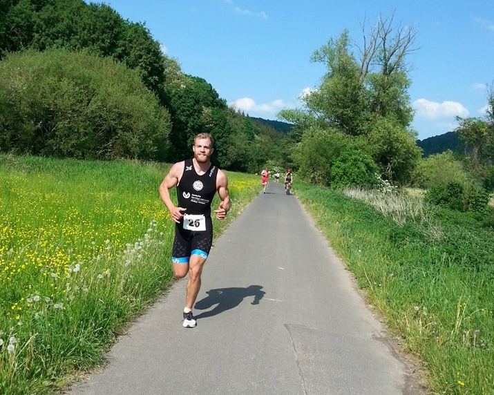 Drei Flüsse Triathlon Gemünden Dominik KaRL