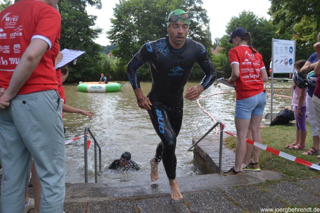 Triathlon Leutershausen Schwimmen