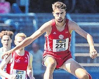 Patrick Karl, Junioren DM in Heilbronn, 3000m-Hindernis, Meister